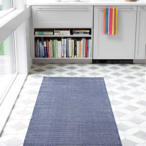 Dash And Albert Herringbone 105511 Indigo Area Rug