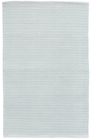Dash And Albert Herringbone Indoor-Outdoor Light Blue - Ivory Area Rug