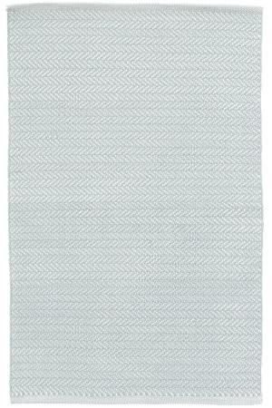 Dash And Albert Herringbone Indoor-Outdoor Light Blue - Ivory Area Rug