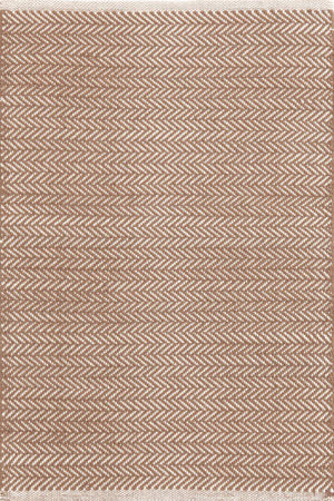 Dash And Albert Herringbone 105514 Stone Area Rug