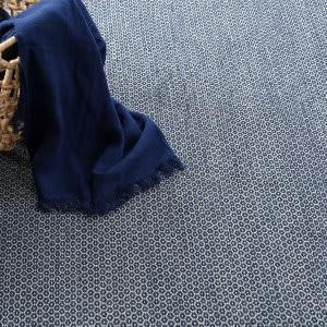 Dash And Albert Honeycomb Woven Indigo - Grey Area Rug