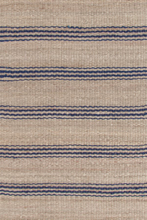Dash And Albert Jute Ticking 92370 Indigo Area Rug