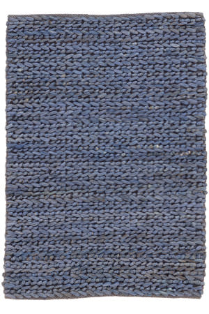 Dash And Albert Jute Woven Blue Area Rug