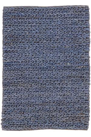 Dash And Albert Jute Woven Blue Area Rug