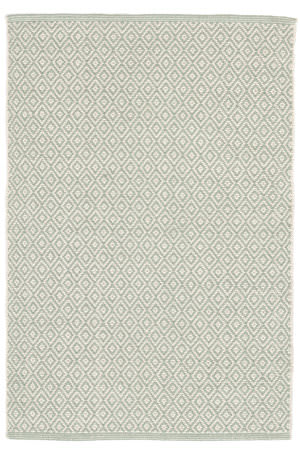 Dash And Albert Lattice Cotton Ocean Area Rug