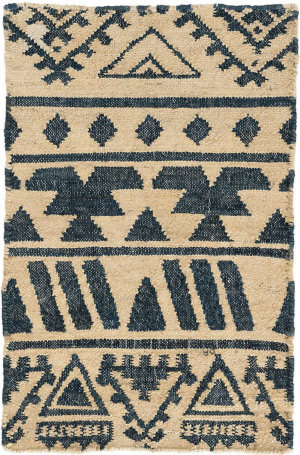 Dash And Albert Luru Woven Blue Area Rug