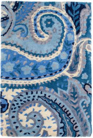 Dash And Albert Lyric Tufted Paisley Blue Area Rug