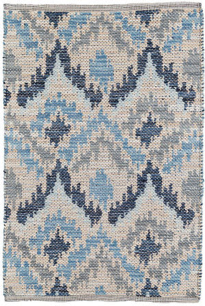Dash And Albert Medina Woven Blue Area Rug