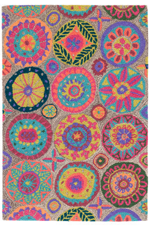 Dash And Albert Merry Go Round Wool Bright Area Rug