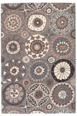 Dash And Albert Merry Go Round Wool Neutral Area Rug