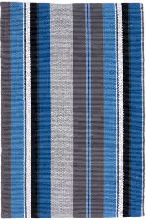 Dash And Albert Midnight Stripe Blue Area Rug