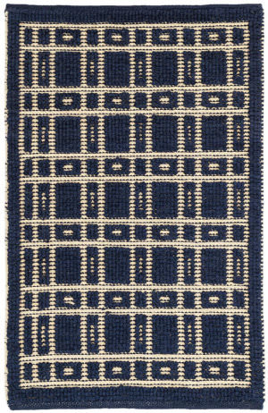 Dash And Albert Oliver Woven Navy Area Rug