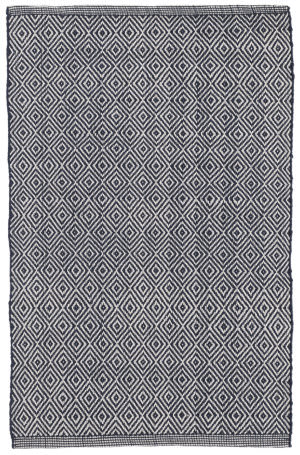 Dash And Albert Petit Diamond Indoor - Outdoor Navy Area Rug