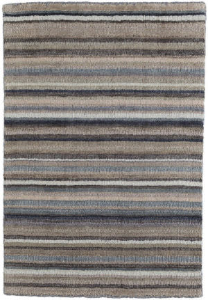Dash And Albert Ranger Stripe Knotted Neutral Area Rug
