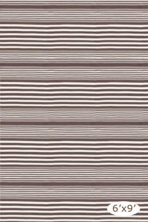 Dash And Albert Rugby Stripe Brown Area Rug