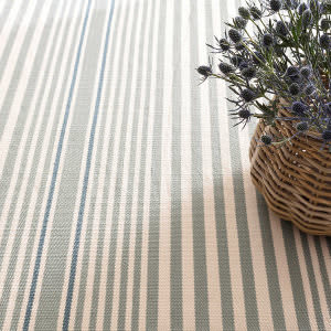Dash And Albert Rugby Stripe Light Blue Area Rug