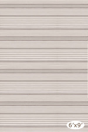 Dash And Albert Rugby Stripe Platinum Area Rug