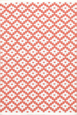 Dash And Albert Samode 105556 Coral/White Area Rug
