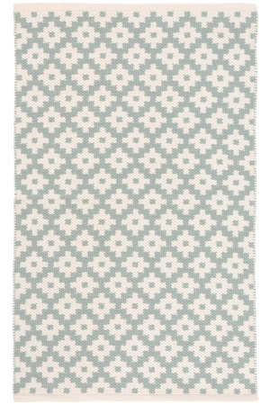 Dash And Albert Samode Indoor - Outdoor Light Blue-Ivory Area Rug
