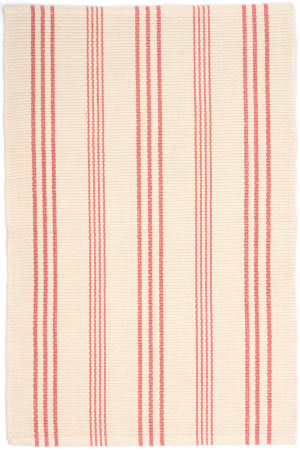 Dash And Albert Skona Stripe Pink Area Rug