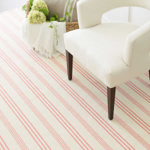 Dash And Albert Skona Stripe Pink Area Rug