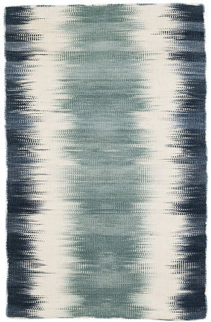 Dash And Albert Sombre Kilim Woven Blue Area Rug