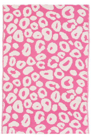 Dash And Albert Spot Cotton Fuchsia Area Rug