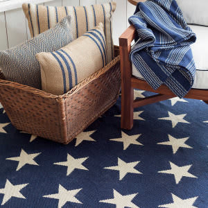 Dash And Albert Star Rdb342 Navy - Ivory Area Rug