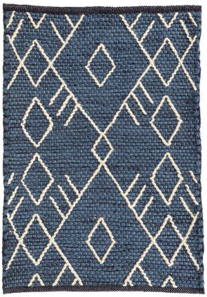 Dash And Albert Teca Woven Indigo Area Rug