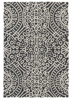 Dash And Albert Temple Machine Made Charcoal Area Rug