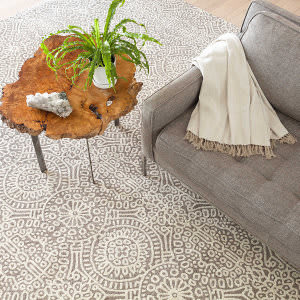 Dash And Albert Temple Geometric Taupe Area Rug