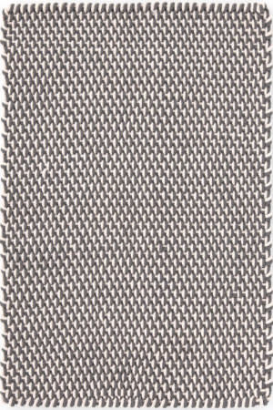 Dash And Albert Two-Tone Rope 105571 Graphite/Ivory Area Rug
