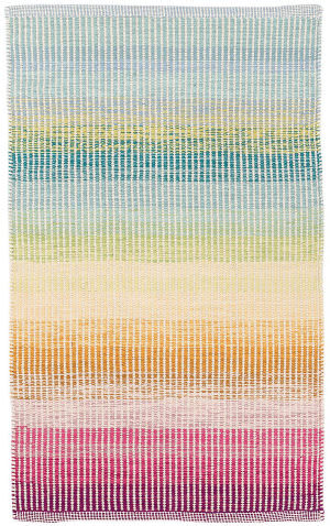 Dash And Albert Watercolor Horizon Woven Blue Area Rug