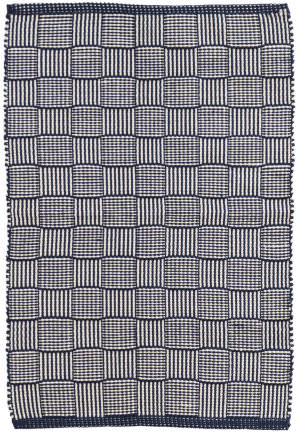 Dash And Albert Webber Indoor - Outdoor Navy Area Rug