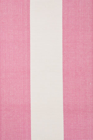 Dash and Albert Yacht 54280 Pink / White Area Rug