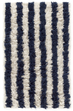Dash And Albert Zaida Woven Navy - Ivory Area Rug
