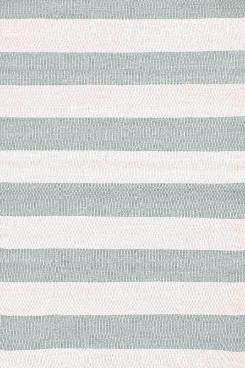 Dash And Albert Catamaran Stripe Light Blue Ivory Rug Studio
