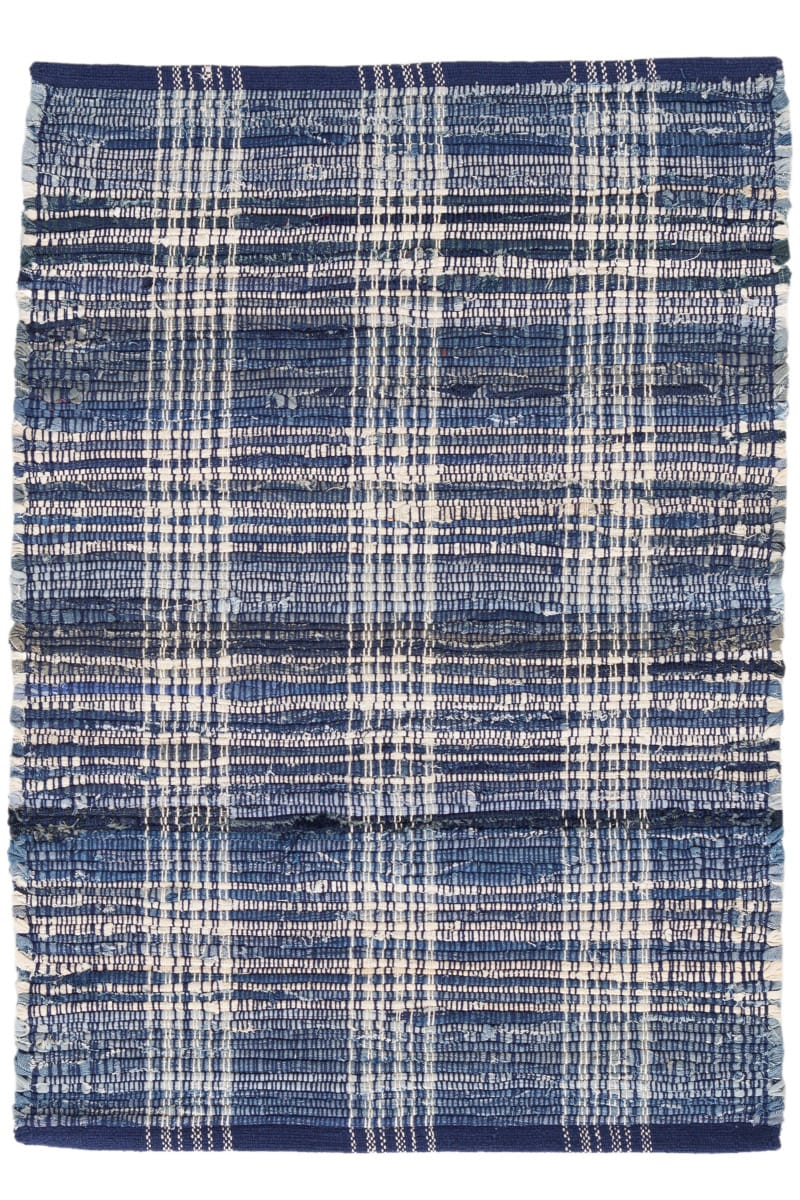 Dash And Albert Denim Cotton Plaid Rug Studio