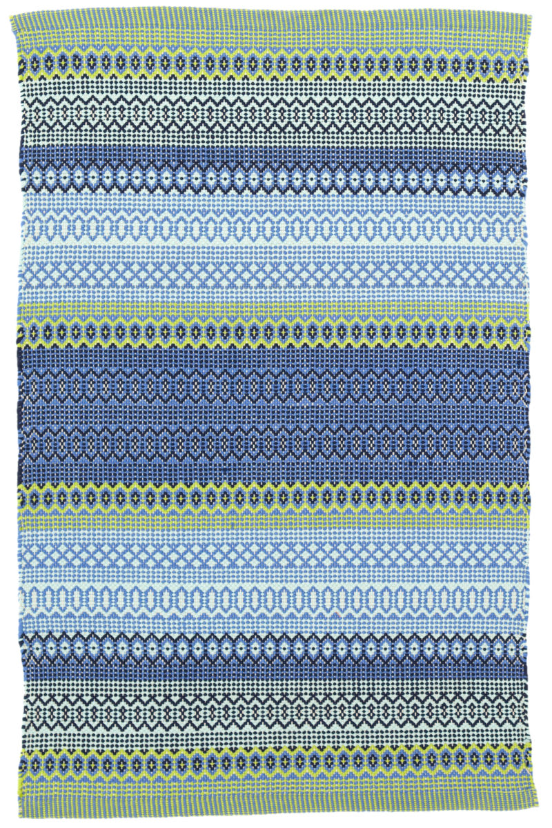 Dash And Albert Fiesta Stripe Indoor Outdoor French Blue