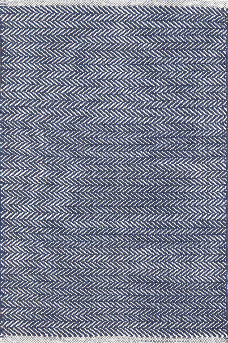Dash And Albert Herringbone 105511 Indigo Area Rug 105511