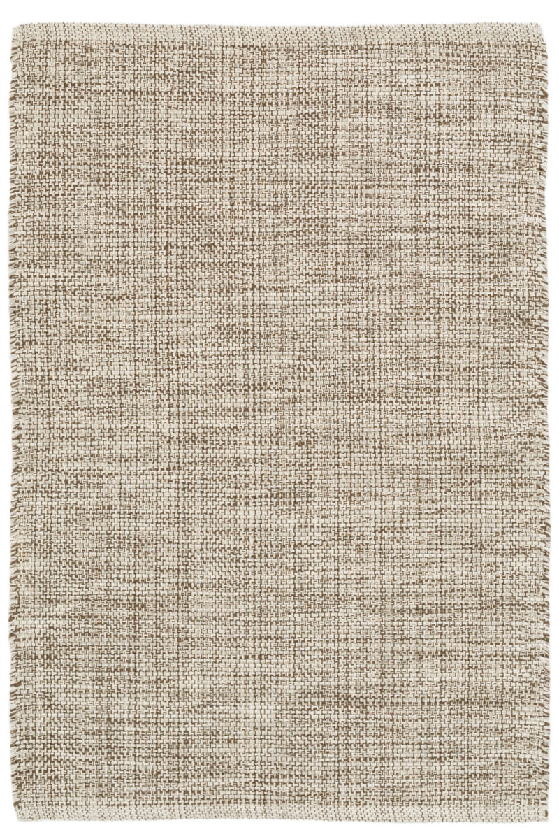 Dash And Albert Marled Cotton Brown Area Rug 158944