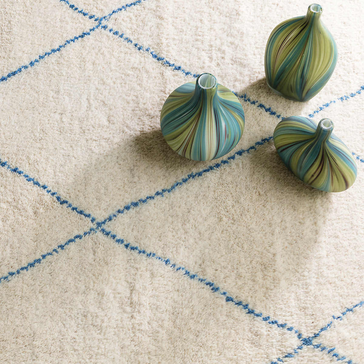 Dash And Albert Numa Knotted Blue | Rug