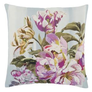Designers Guild Delft Flower Pillow 176025 Sky