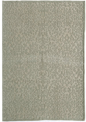 Due Process Aubusson + Cutpile Lattice Sage Area Rug