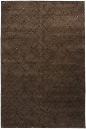 Due Process Adaptations Circle Brown Area Rug