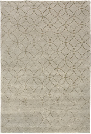 Due Process Adaptations Circle Ivory Area Rug