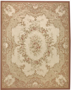Due Process Aubusson Chalon Cream - Rose Area Rug