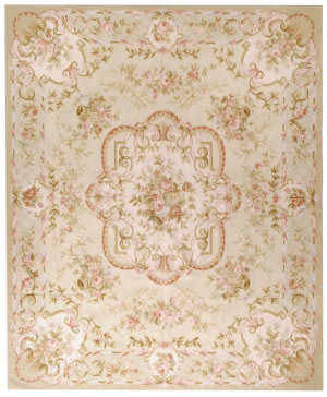 Due Process Aubusson Laval Gold - Ivory Area Rug