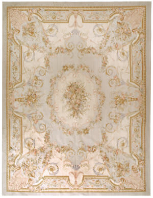 Due Process Aubusson Nantes Powder Blue Area Rug