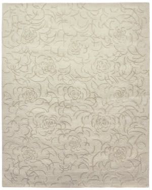 Due Process Barbara Barry Collection Brayton Floral Snowflakes Area Rug